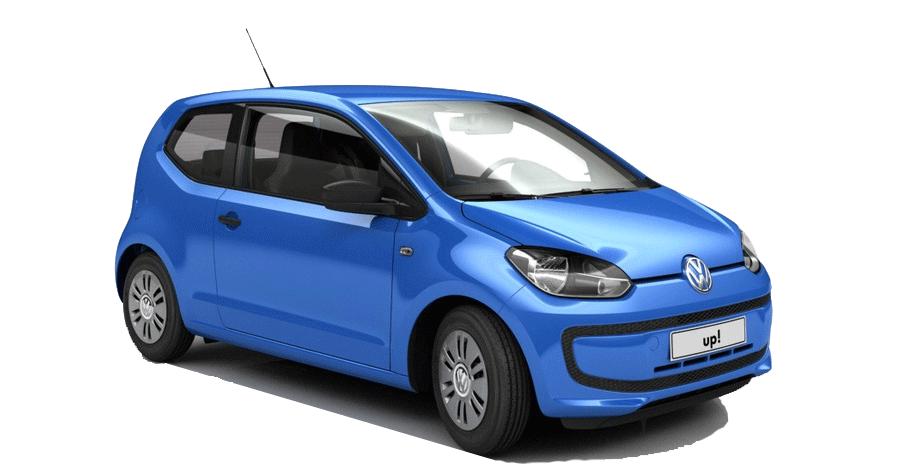 Volkswagen Up! blauw bij introductie